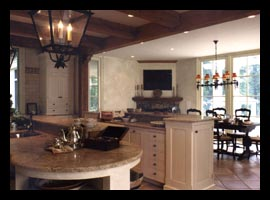 Kitchen and breakfast room in addition to Virginia residence, designed by architect Candace Smith, AIA