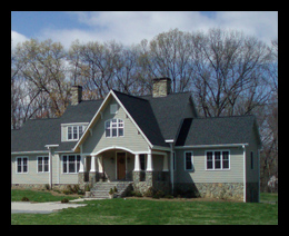 New craftsmen style home in August County, Virginia, designed by Candace Smith Architect