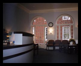 New venipuncture clinic designed by Candace Smith, AIA, for the University of Virginia hospital in the historic Barringer Wing